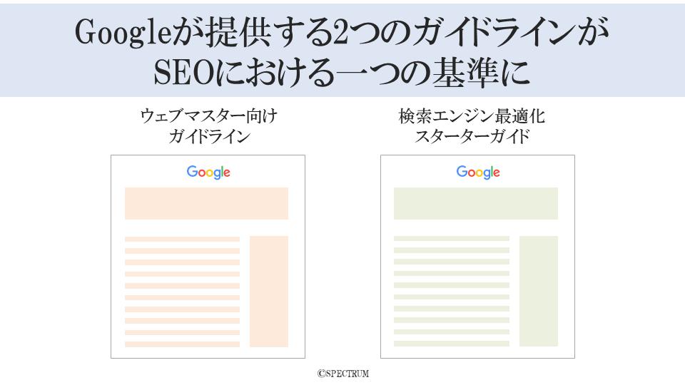 Googleが提供する2つのガイドラインがSEOにおける一つの基準に